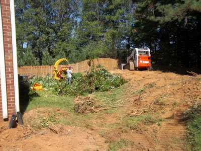 how to build a landscape berm for drainage