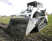 Bobcat Grading with Gravel Bucket