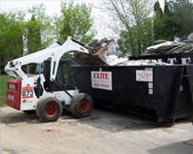 Trash Removal with Bobcat