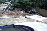 Swimming Pool Fill In Landscaping Atlanta Marietta Georgia