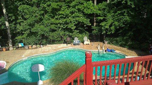 Before Swimming Pool Demolition in Atlanta, GA